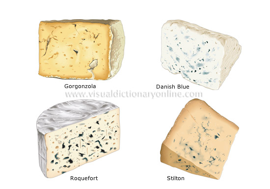 blue-veined cheeses