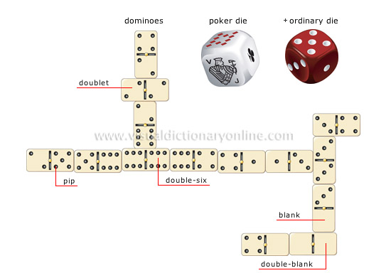 dice and dominoes