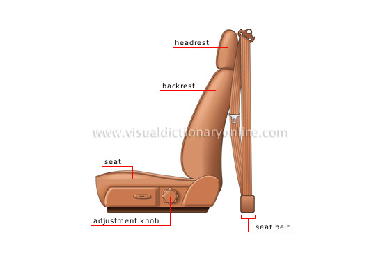 bucket seat: side view